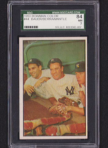 1953 Bowman Color Mickey Mantle