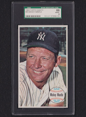 1964 Topps Giants Mickey Mantle