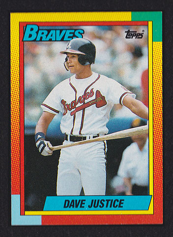 1990 Topps Traded Dave Justice