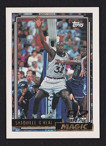 1992 Topps Gold Shaquille O'neal